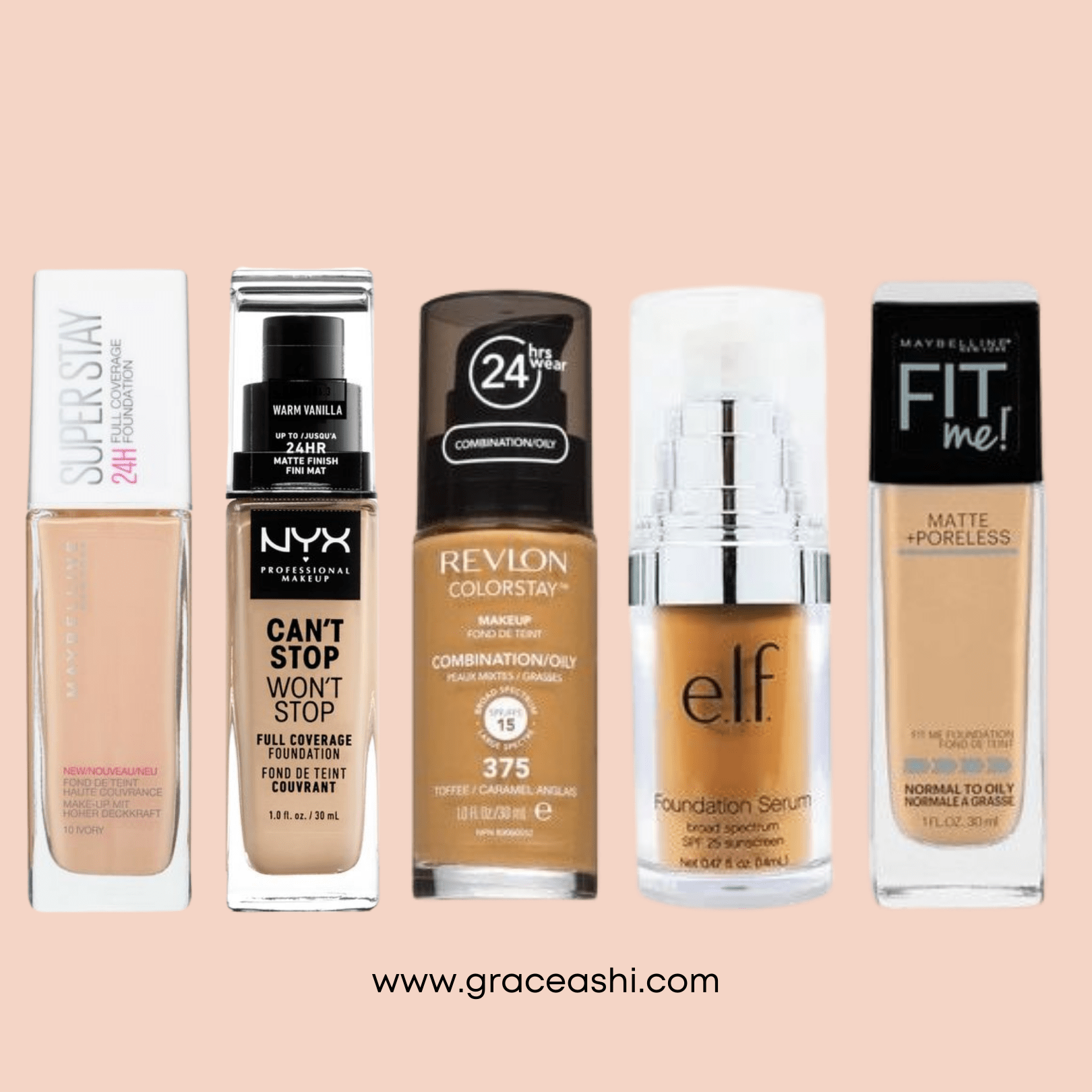 10 Best Drugstore Foundations Grace Ashi